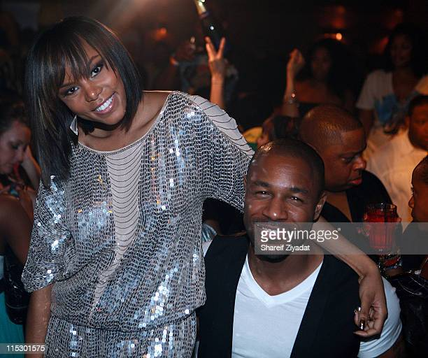 LeToya Luckette and Tank attend Mario's birthday party at M2 Ultra Lounge on August 28 2009 in New York City