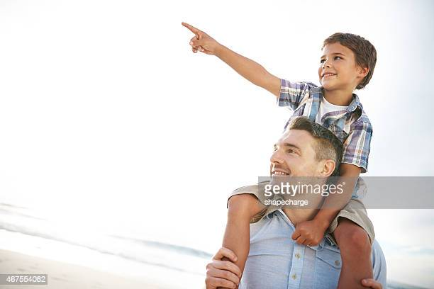 Let's go over there, Dad!