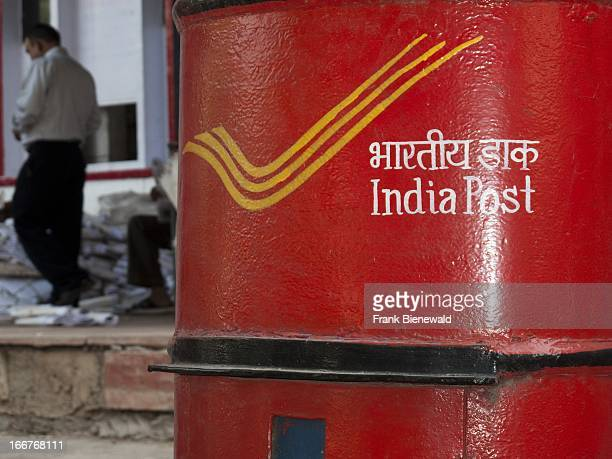 Letter boxes in front of the main post office in the capital of Himachal Pradesh