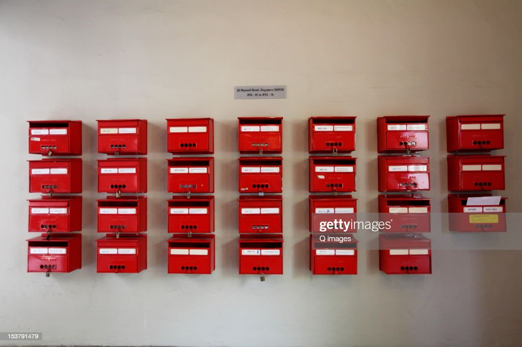 Letter Boxes : Stock Photo