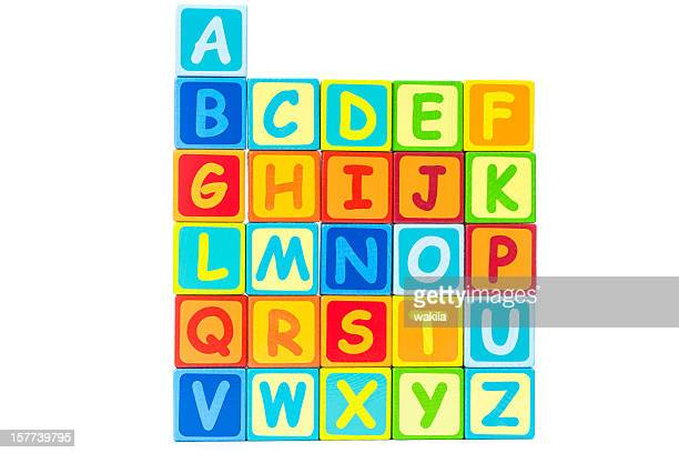 letter cubes characters - bunte Buchstaben