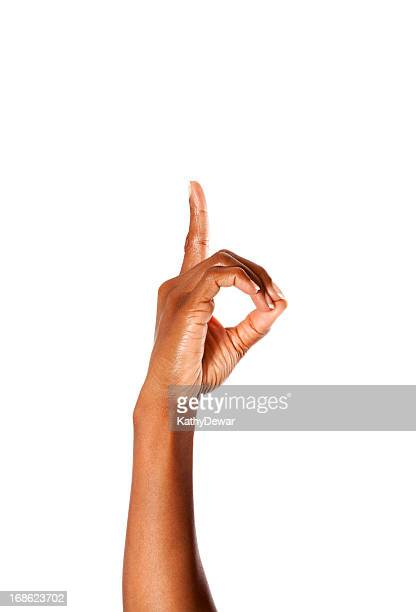 Letter D in American Sign Language