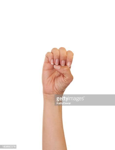 Lettre E en langage des signes américain