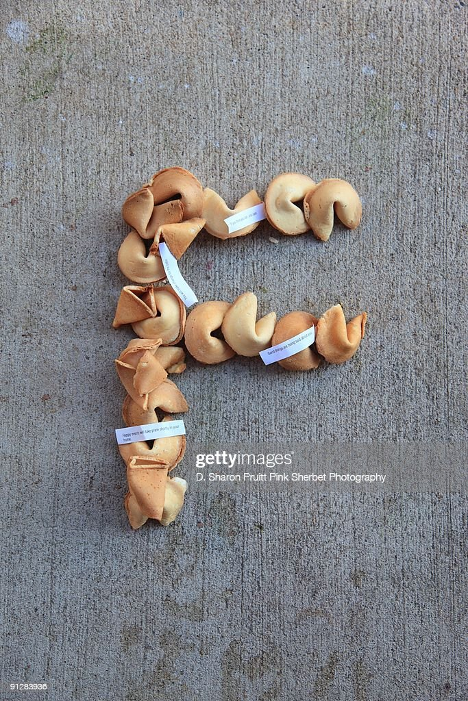 Letter F for Fortune Cookies