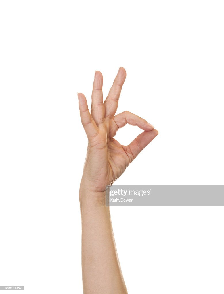 Letter F in American Sign Language