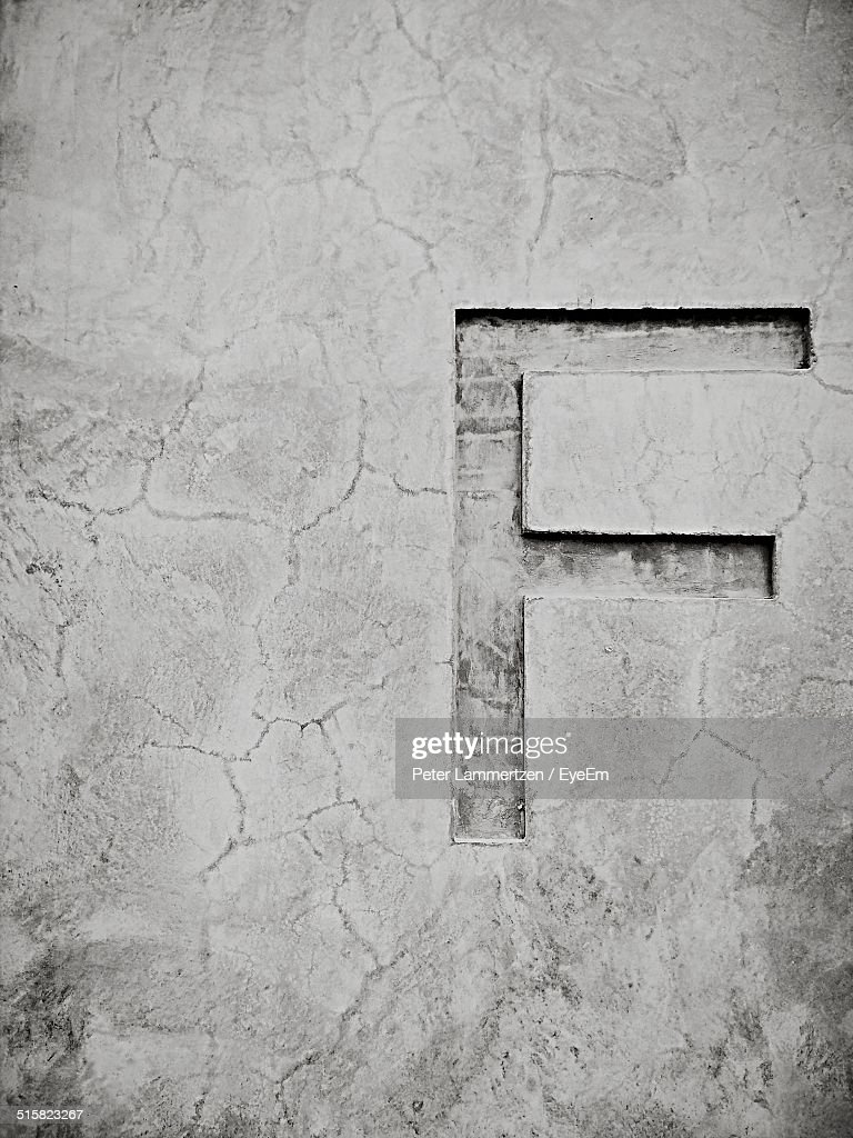 Letter F In Concrete