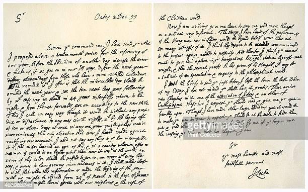 Letter from John Locke to Hans Sloane 2nd December 1699 Letter from writer and philosopher John Locke to Dr Hans Sloane physician naturalist and...