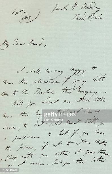 A letter from Sir Thomas Lawrence 1819 Sir Thomas Lawrence was elected President of the Royal Academy on 30 March 1820 following the death of...
