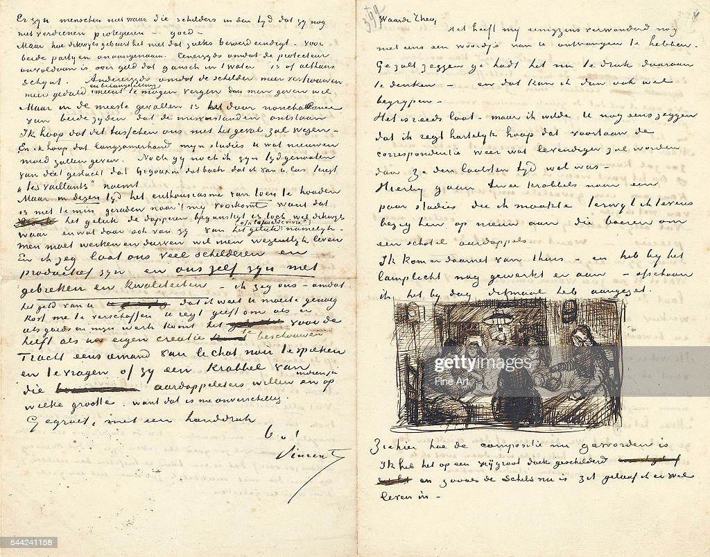 letter from vincent van gogh to his brother theo dated thursday april 30