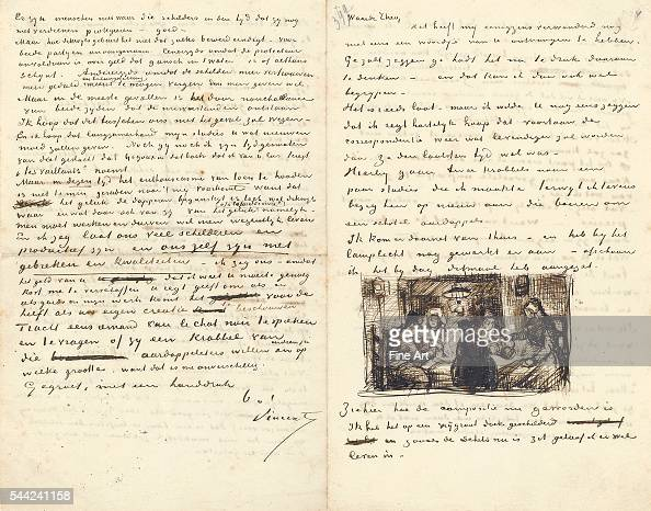 letter from vincent van gogh to his brother theo pictures getty images