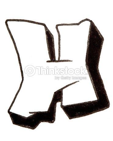 Letter h alphabet in graffiti style stock photo thinkstock - Lettre graffiti modele ...