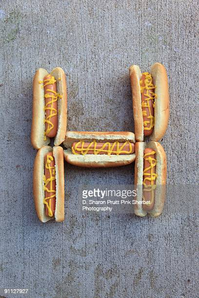 Letter H for Hot Dogs