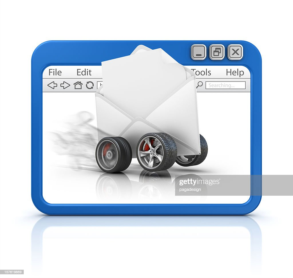 letter in browser : Stock Photo