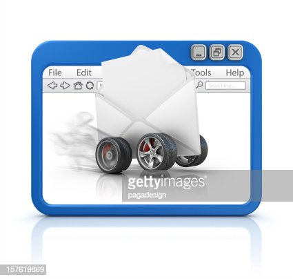 letter in browser : Stockfoto
