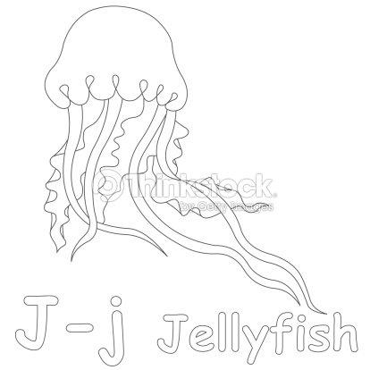Letra J Para Colorear Página De Medusa Foto de stock | Thinkstock