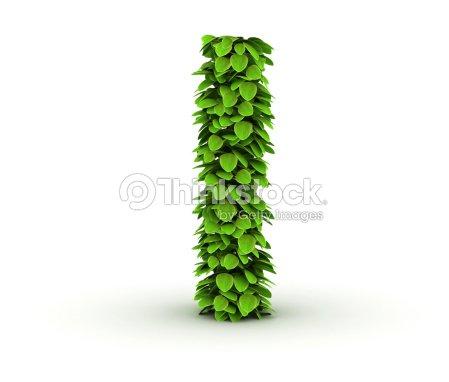 Letra L Alfabeto De Hojas Verdes Foto de stock | Thinkstock