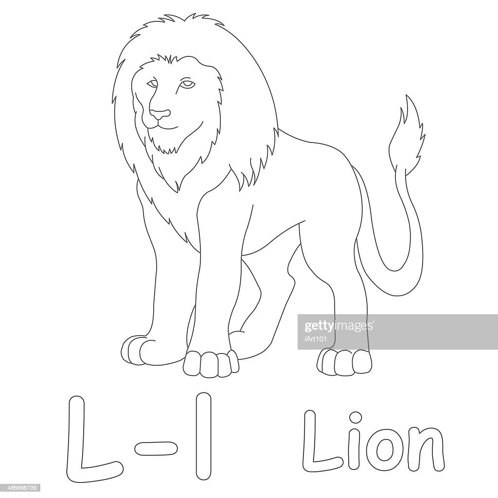 letter l for lion coloring page stock photo getty images