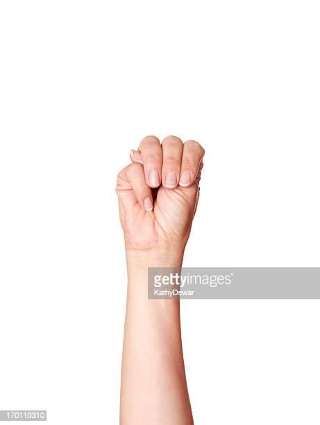 Lettre M dans le langage des signes américain