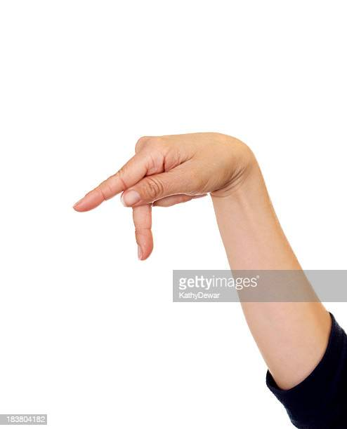 Letter P in American Sign Language