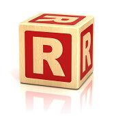 letter R alphabet cubes font