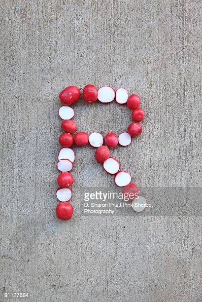 Letter R for Radishes