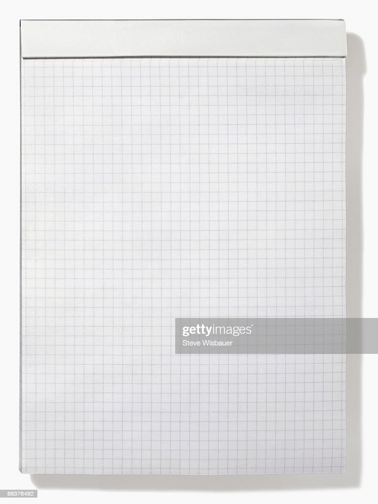 Letter size pad of graph or grid paper for math  : Stock Photo