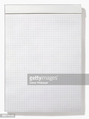 Letter Size Pad Of Graph Or Grid Paper For Math Stock Photo ...