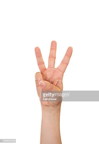 Letter W in American Sign Language