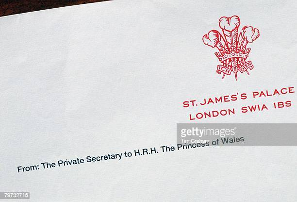 Letterheading of the Prince and Princess of Wales before their divorce