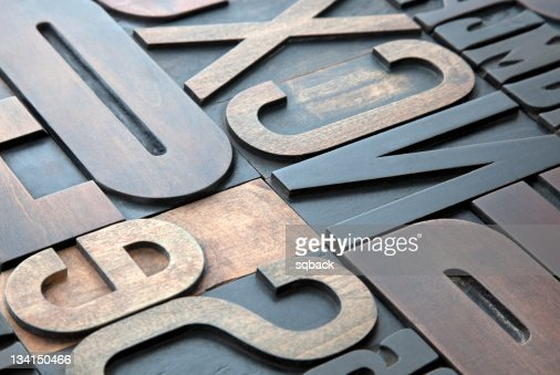 Letterpress background : Stock Photo