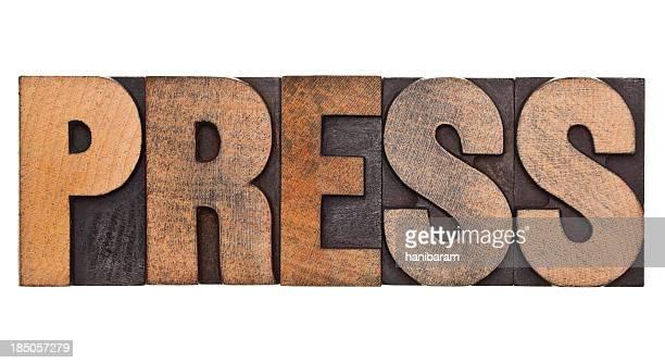 Drücken Sie die Taste-Relieftechnik Buchstaben