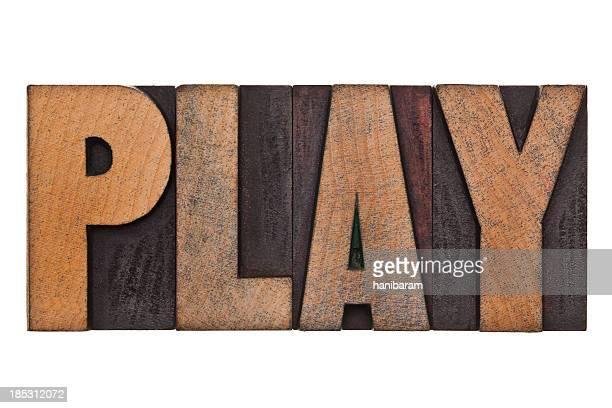 PLAY - Letterpress Letters
