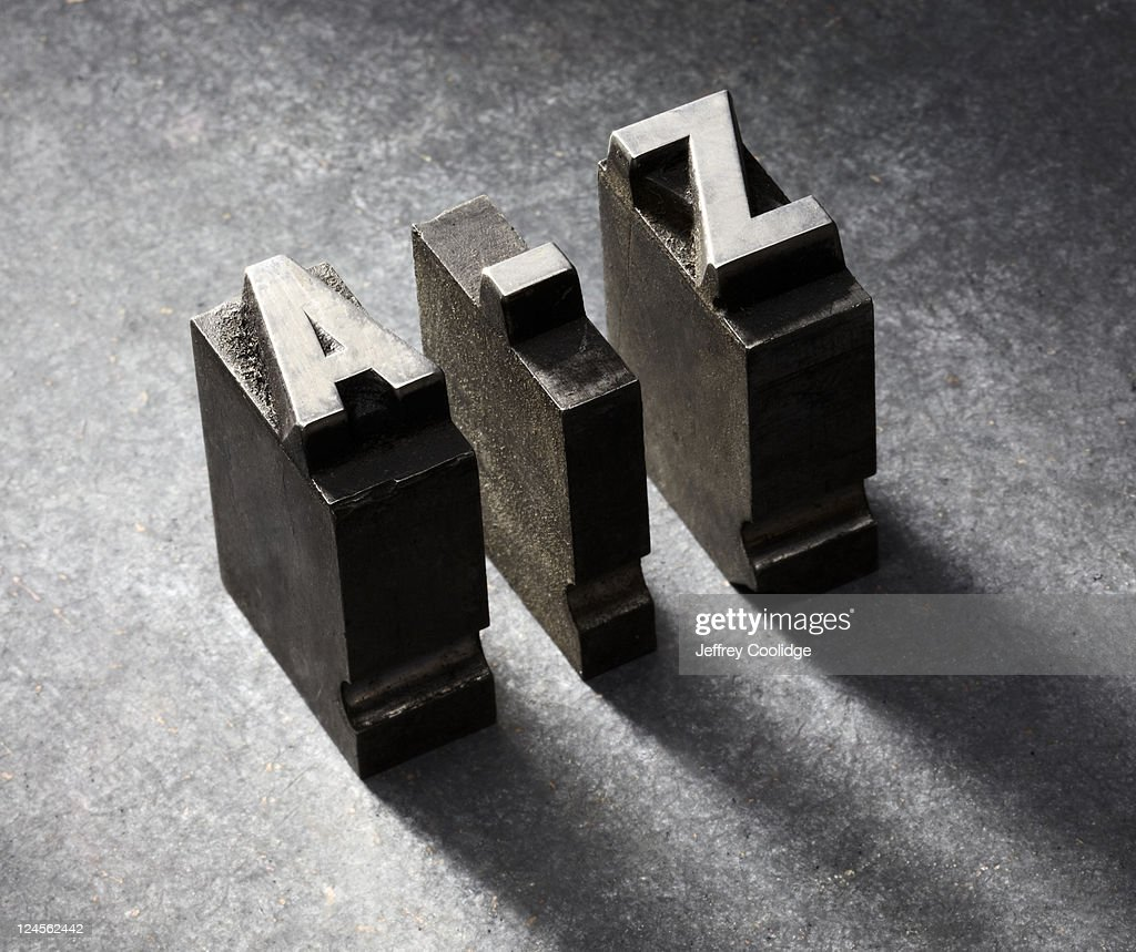 A-Z Letterpress type : Stock Photo