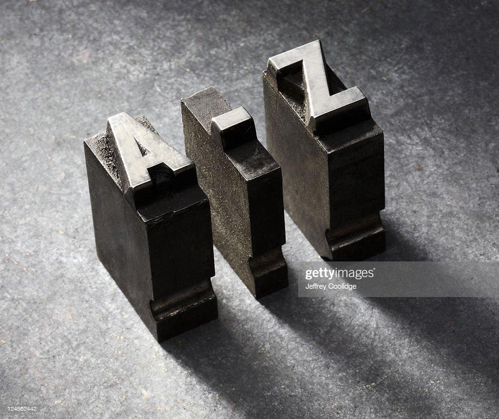 A-Z Letterpress type