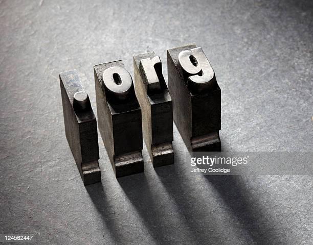 ORG Letterpress type