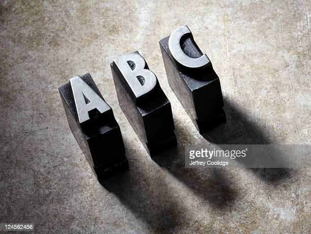 ABC Letterpress type