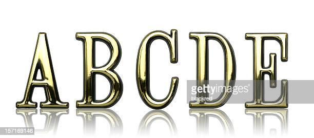 Letters - A B C D E