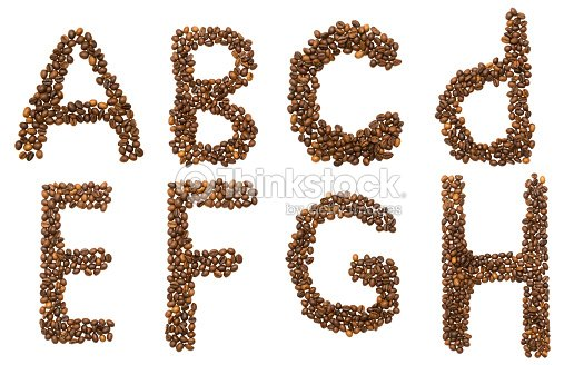 Letters A H Of Coffee Beans Stock Photo - Thinkstock