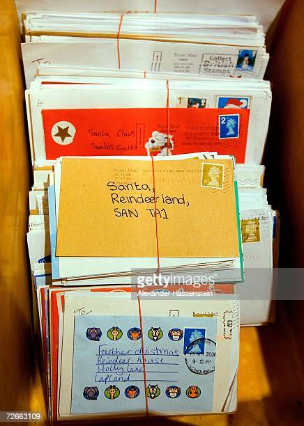 Letters addressed to Santa Claus at the Santa Claus Main Post Office in Santa Claus' Village on November 27 2006 at the Arctic Circle in Rovaniemi...