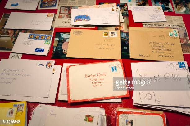 Letters for opening sorting and reply at the Santa Claus post office in Rovaniemi The 'real' Santa Claus is available to visit every day of the year...