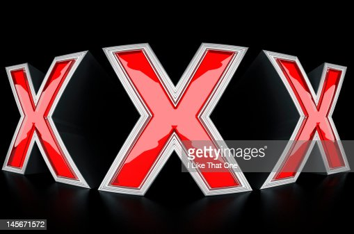 XXX letters on black background : Stock Photo