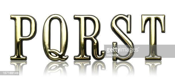 Letters - P Q R S T