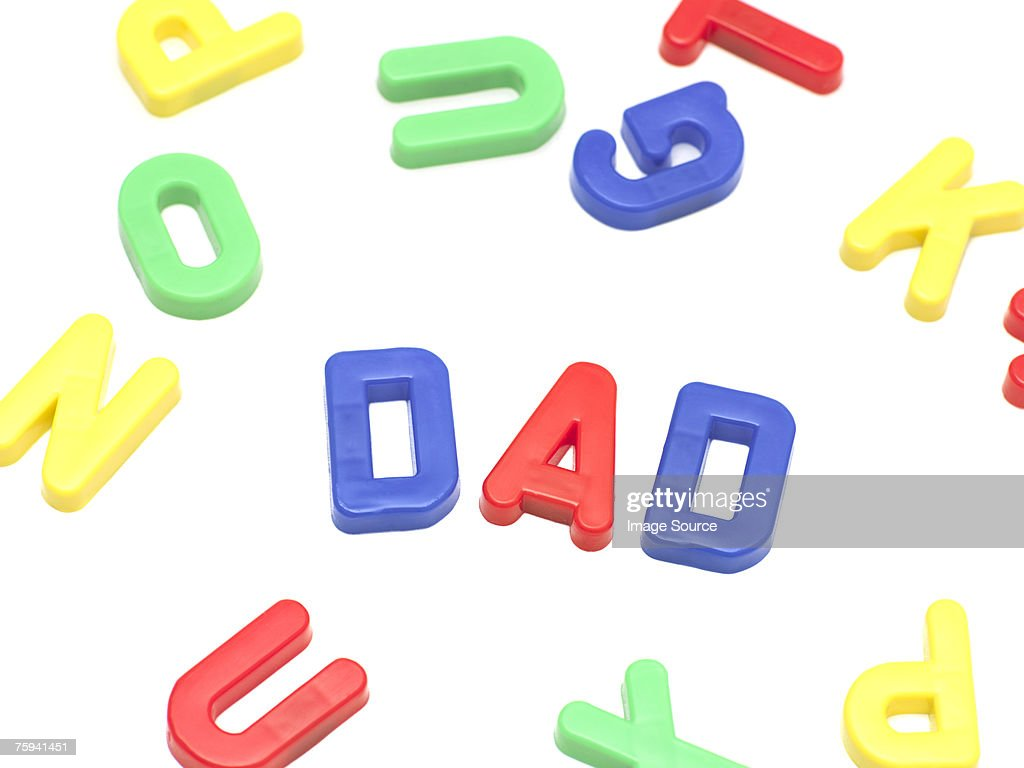 Letters spelling dad : Stock Photo