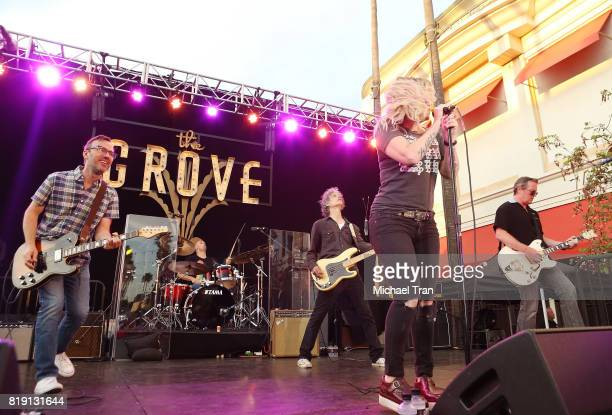 Letters to Cleo the band perform onstage during the Citi presents The Grove Summer Concert Series held at The Grove on July 19 2017 in Los Angeles...