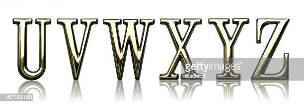 Lettres U, V, W, X, Y et Z