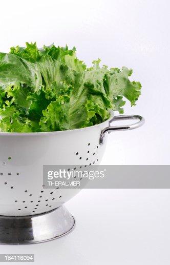 lettuce and colander