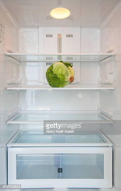 Lettuce in a refrigerator