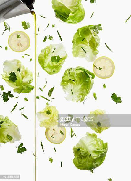 Lettuce, Lemon, and Oil Dressing Pour