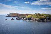 Küstenlandschaft mit Leuchtturm, Sherkin Island,Irland, County Cork