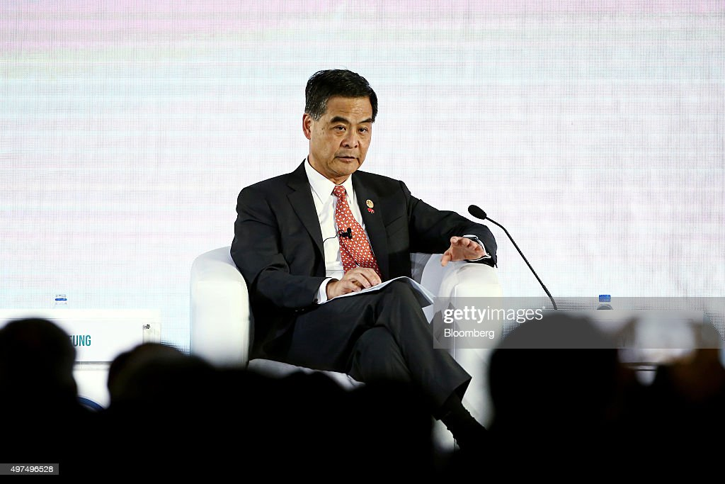 Leung Chunying Hong Kong's chief executive speaks at the AsiaPacific Economic Cooperation CEO Summit in Manila the Philippines on Tuesday Nov 17 2015...